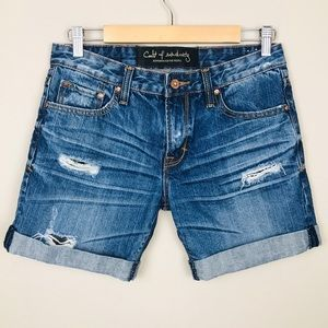 CULT OF INDIVIDUALITY Denim Jean Shorts size 26